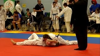 All Ireland Judo Championship 2016: cadet girl Anatole Roze fights. Дзюдо женщины 柔道の女性
